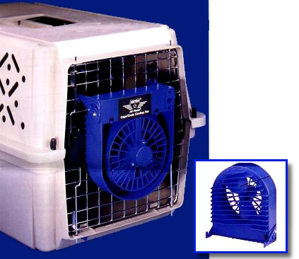 Air Force Dog Cage Crate Cooling Fans