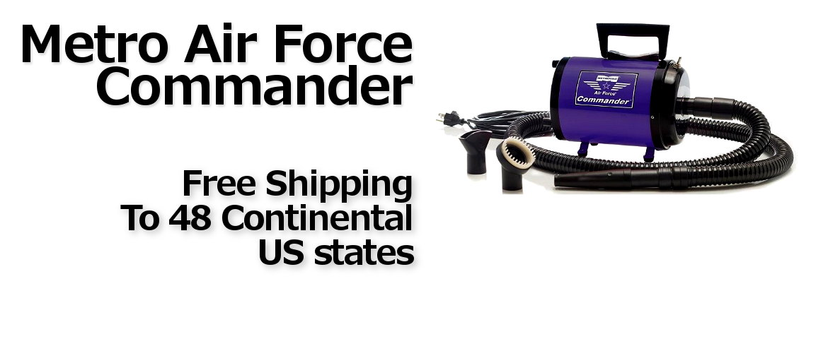 Metro Air Force Commander Dog Dryers with Fre Shipping